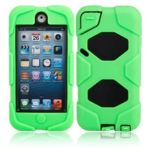 Delicate Silicone & Plastic Protective Case for iPod Touch 5 Green