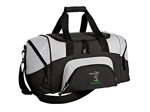 All about me company Gymnastics Personalized | Colorblock Sport Small Duffle Bag (Black/Grey) ()