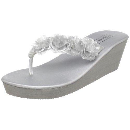 - Touch Ups Women's Sparkle Sandal,Silver Vinyl,6 M US