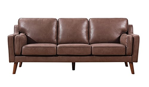 Container Furniture Direct S5346-S Whaley Sofa, Brown/Tan