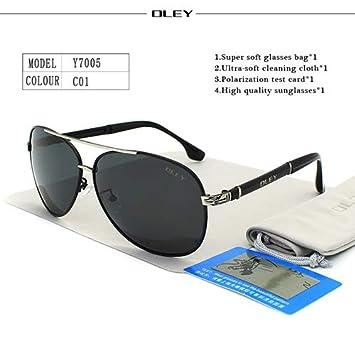 DYJHSD Gafas de Sol de Lujo para Hombre polarizadas Clásico ...