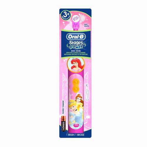 Oral-B Pro-Santé Stages Brosse à dents de Disney Princess Puissance Kid 1 comte