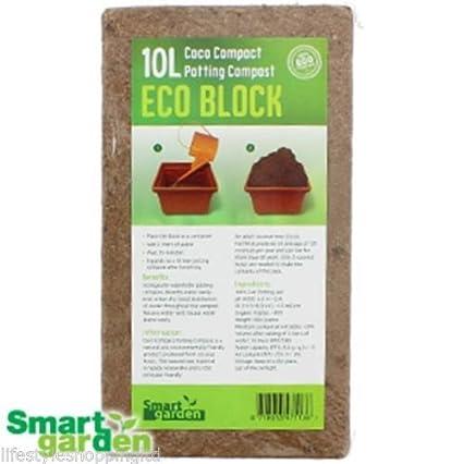 Macetas, Compost Suelo 10 L de las Plantas Semillas de flores de jardín interior Coco