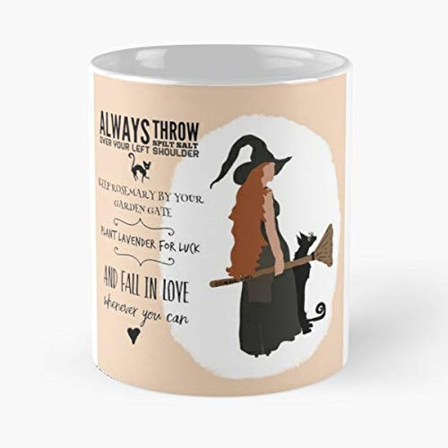 Magic Witch Halloween Quotes - 11 Oz Coffee Mugs Unique Ceramic Novelty Cup, The Best Gift For Holidays.