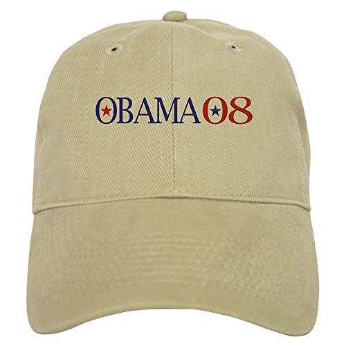 CafePress Obama 08 Baseball Cap with Adjustable Closure, Unique Printed Baseball Hat Khaki