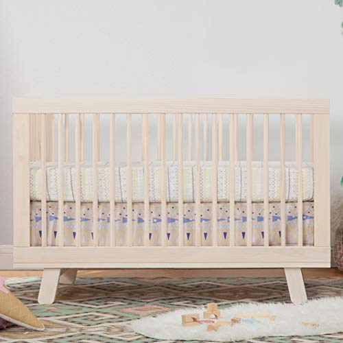 41nMYyaVc5L - Babyletto Hudson 3-in-1 Convertible Crib With Toddler Bed Conversion Kit In Washed Natural, Greenguard Gold Certified