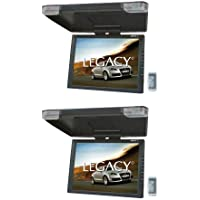 2) LEGACY LMR15.1 15 LCD TFT Car/SUV/TRUCK Flip Down Roof Mount Monitors TV IR
