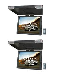 "2) LEGACY LMR15.1 15 ""LCD TFT Car   SUV   TRUCK Flip Down Montaje en techo Monitores TV IR"