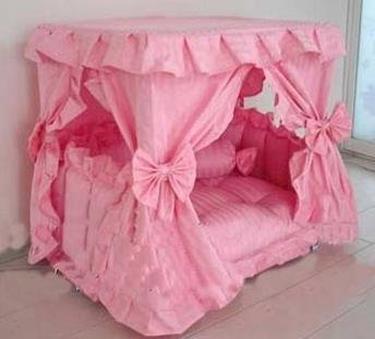 Princess Canopy Pet Bed (Large 23.6 x 31.5 x 31.5 Pink) : pink canopy for bed - memphite.com