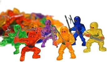 Fun Express Vinyl Ninja Warrior Toys - 48 Pieces