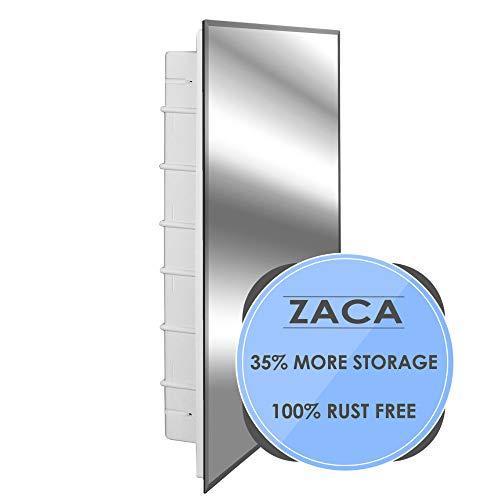 (Zaca Spacecab Nunki Recessed Beveled Edge Medicine Cabinet, 16