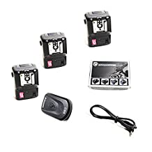 CowboyStudio NPT-04 4 Channel Wireless Flash Trigger Set for External Speelights with 1 Trigger and 3 Receivers