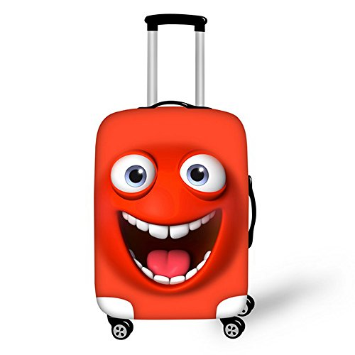 FOR U DESIGNS 22-26 Inch Happy Smile Face Emoji Design Soft Luggage Cover for Teens