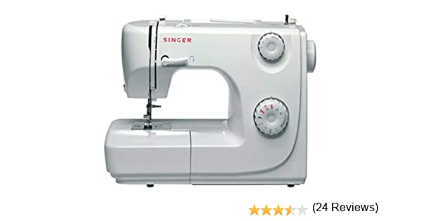 Singer 8280 - Máquina de coser automática, Paso 4, Variable, Giratorio, Blanco: Amazon.es: Hogar