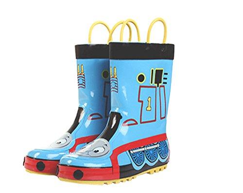 Kids Boys Thomas Printed Waterproof Easy-On Rubber Rain Boots (Toddler/Little Kid) Blue