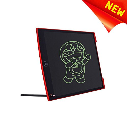 12'' LCD Writing Tablet Electronic Graphic Board eWriter, VPRAWLS Paperless Digital Drawing Notepad for Kids Adults at Home Office Writing Drawing with Magic Eraser Stylus-Red by VPRAWLS