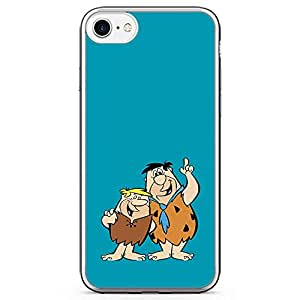 Loud Universe Brothers Flintstone iPhone 7 Case Blue Classic Cartoon iPhone 7 Cover with Transparent Edges