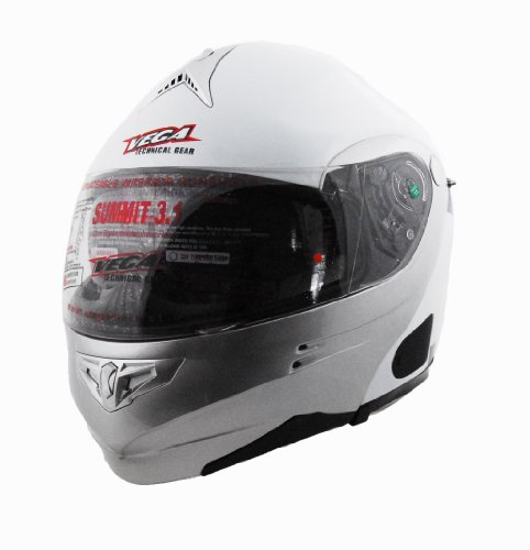 Vega Summit 3.1 2-Tone Modular Full Face Helmet (Pearl White/Silver, ()