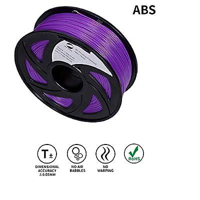 LEE FUNG 1.75mm ABS 3D Printing Filament Dimensional Accuracy +/- 0.05 mm 2.2 LB Spool DIY Material Tools (Purple)
