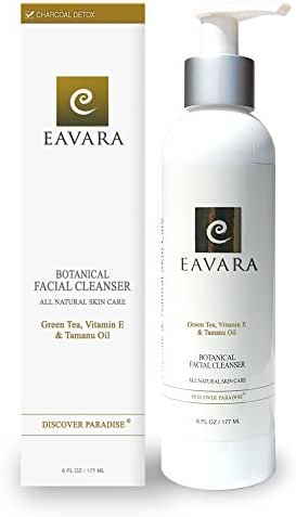 Award Winning Organic Facial Cleanser | Anti Aging | All Natural Exfoliating Pore Face Wash For Women And Men With Sensitive Skin | Moisturizing | Hydrating | Organic Tamanu & Coconut Oil