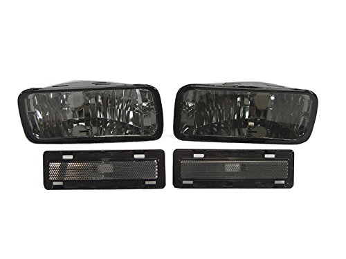 CPW (tm) 85 86 87 88 89-92 Chevy Camaro Smoke Smoked Bumper Signal Lights + Smoked Side Marker Lights Lamps