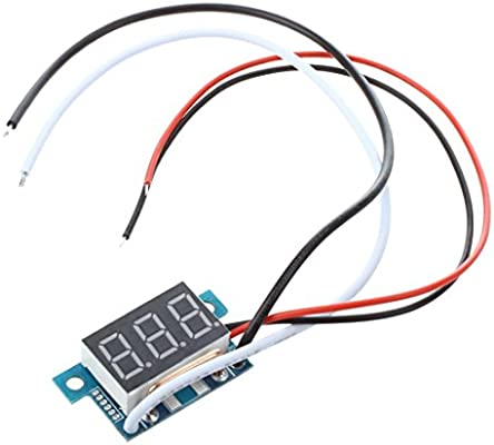 HaiMa Mini Volt/ímetro Digital Amper/ímetro-Negro