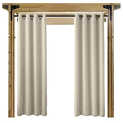 cololeaf Outdoor Curtains for Patio Extra Wide Waterproof Curtain Panels  for Porch, Gazebo, Pergola - Amazon.com : Cololeaf Outdoor Curtains For Patio Extra Wide