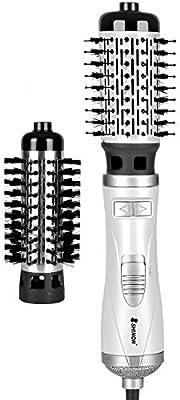 Cepillo de aire caliente, cepillo de aire caliente giratorio, secador de pelo, 2 en 1, plancha de pelo, rizador de pelo y cepillo de aire caliente Ionic: Amazon.es: Salud y cuidado personal