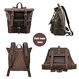 """Polare Retro Full Grain Leather 17"""" Laptop Backpack"""