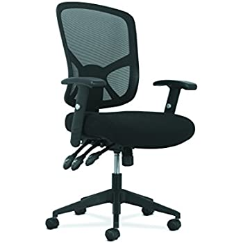 Basyx by HON Customizable Ergonomic High-Back Mesh Task Chair with Arms and Lumbar Support - Ergonomic Computer/Office Chair (HVST121)