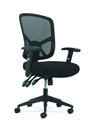 Basyx by HON Customizable Ergonomic High-Back Mesh Task Chair with Arms and Lumbar Support - Ergonomic Computer/Office Chair (HVST121) by HON