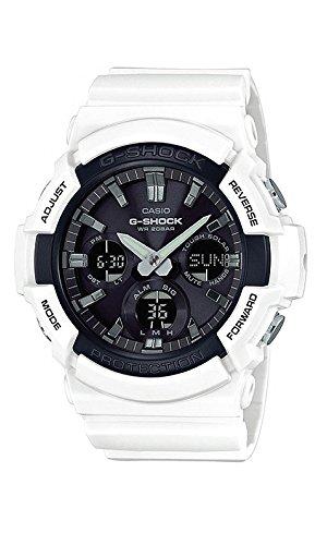 Casio #GAS100B-7A Men039;s Analog Digital Alarm Chronograph White G Shock Watch