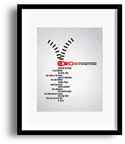 Come Together - Beatles - Song Lyrics Inspired Wall Decor Print - Matted and Framed Options