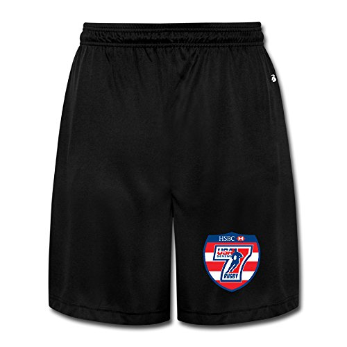 NImao Men's USA SEVEN RUGBY Shorts Sweatpants -