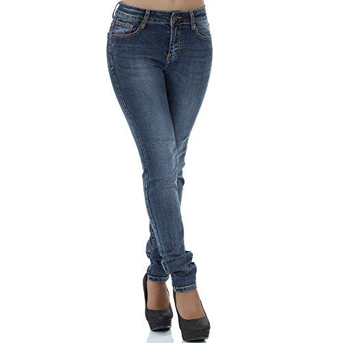 Donna Malucas Jeans Blau Jeans Malucas Skinny Skinny Donna 1qFnf