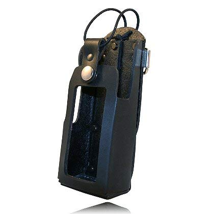 Boston Leather Radio Holder for Motorola XTS 1500, 2500 & 5000 w/Window Cutout - with high Window