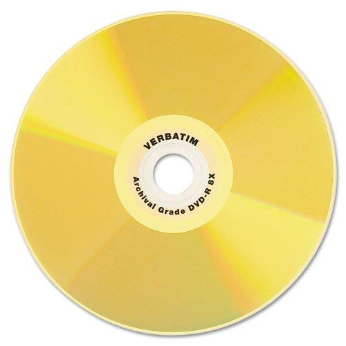 Verbatim - DVD-R Archival Grade Disc, 8x, Gold, 50/Pk 95355 (DMi PK