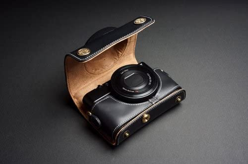 Handmade Genuine real Leather Full Camera Case bag cover for SONY RX100 Black Color