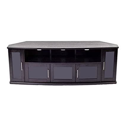 Amazoncom Plateau Newport80b Corner Wood Tv Stand With Black Oak
