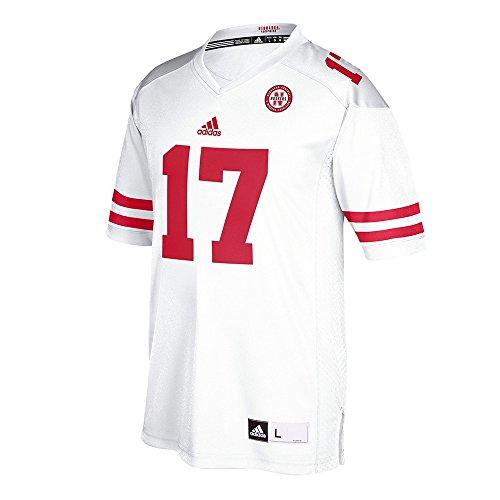 adidas NCAA Nebraska Huskers Adult Men Premier Football Jersey, Large, (White Premier Jerseys)
