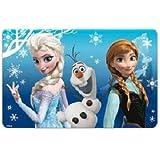 Réf107 LIC.11 - Set de Table 3D La Reine des Neiges Frozen Disney - Bleu Elsa Anna et Olaf - Cadeau Noël