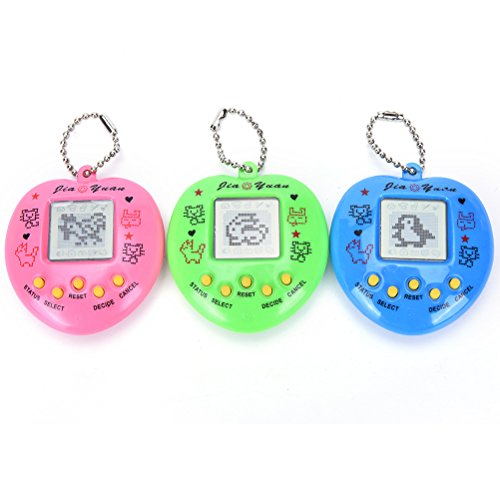 (Dengguoli 1 Pc Random Color Tamagochi Pet Virtual Digital Electronic Game Machine (Pink Blue Green), Nostalgic 168 pet in 1 Virtual Cyber Brinquedos)