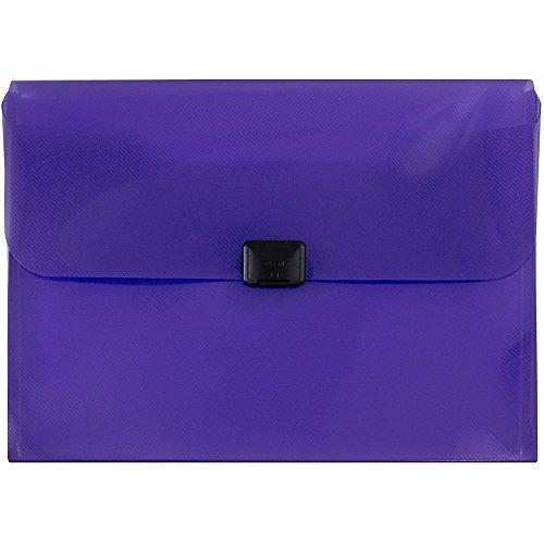 - JAM PAPER Plastic Box Portfolio with Center Buckle - 9 1/2 x 13 1/4 x 1 1/8 - Purple - Sold Individually