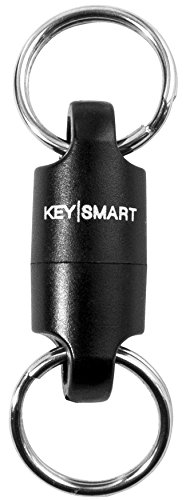 KeySmart MagConnect - Magnetic Keychain For Quick, Secure Key Attachment to Bag, Purse, and Belt - Easy Access to Keys (1 Pack, Black) - Apart Pull Ring Key