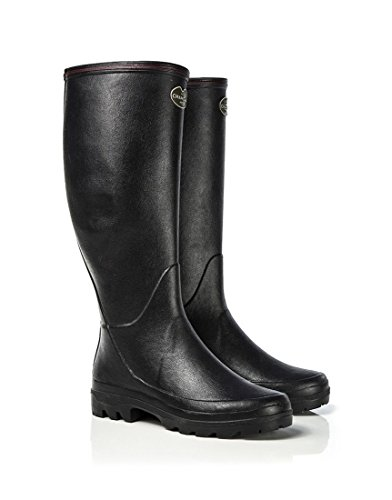 Black Womens Black Boots 5 Chameau Giverny Women's Le Wellington 00xwdqr4