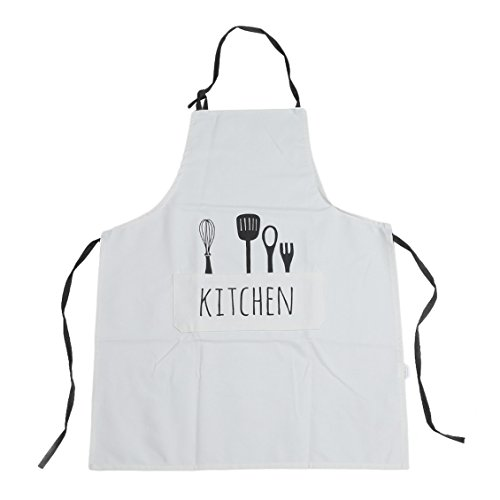827ff1ad5f2 Dolland Kitchen Cooking Apron with pockets Creative Fork   Spoon Pattern  Baking BBQ Apron for Chef   Coffee Shop Waiter