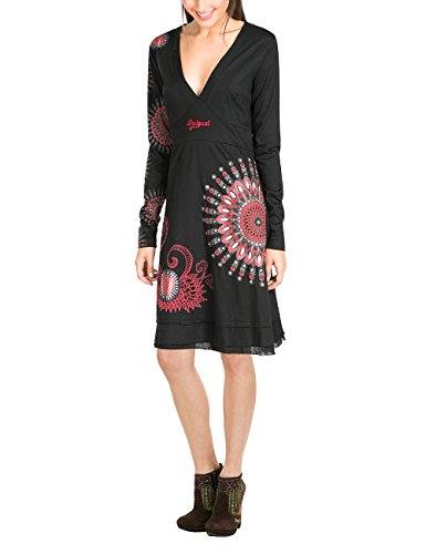 Desigual Vest Damen Schwarz 2000 olgare Negro Rep Kleid pqpf7nTr
