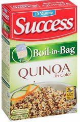 2 pack - Success 10 minute Boil-in-Bag Tri-Color Quinoa, Gluten Free, 12oz by SUCCESS