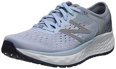 New Balance Women's 1080v9 Fresh Foam Running Shoe, air/Vintage Indigo, 6 M US