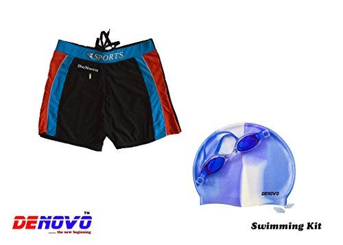 DeNovo Cap Goggle Trunk  Free Size  Swimming Kit